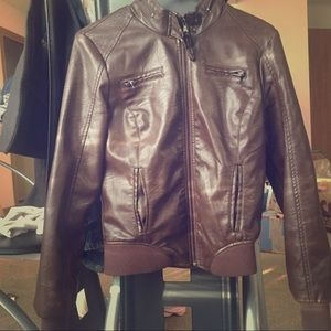 Ci sono faux leather jacket